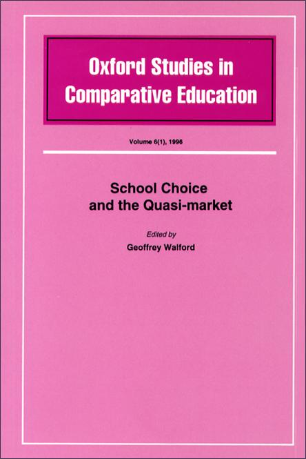 School Choice and the Quasi-market